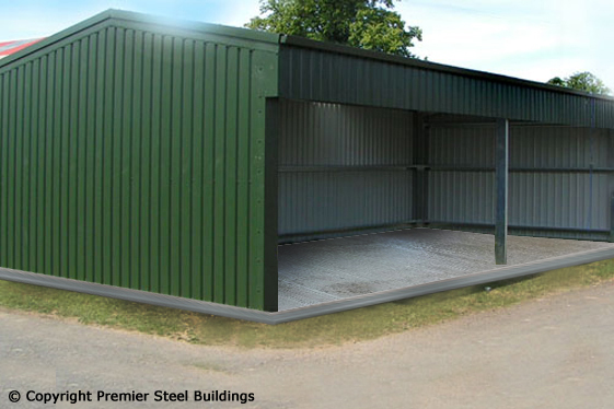 steel frame machine sheds