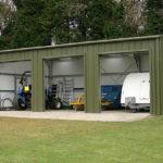 tripple steel garage